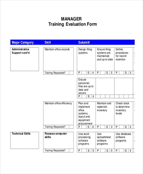 Sample Evaluation Plan. Management Evaluation Plan 30+ Examples Of ..