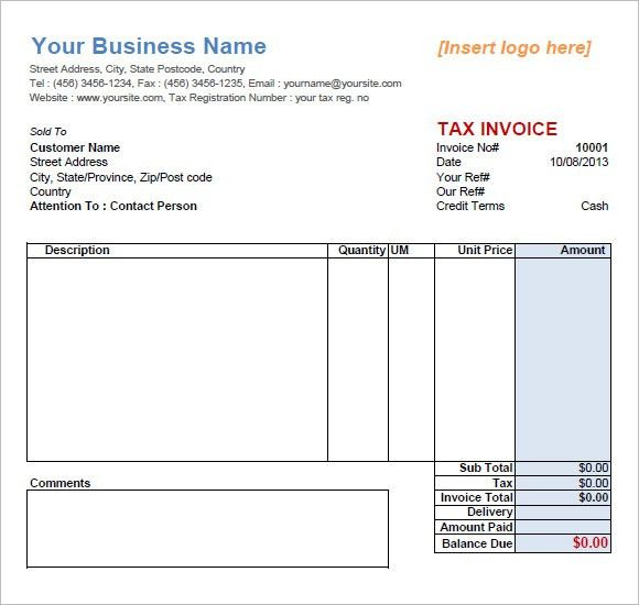 Service Invoice Template – 9+ Free Samples, Examples, Format