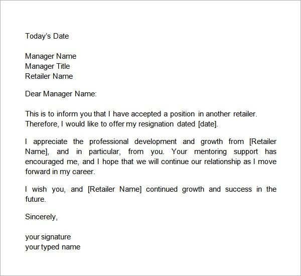 10 Two Weeks Notice Letter Sample - SampleBusinessResume.com ...
