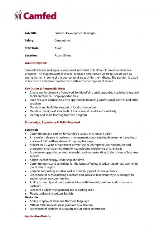 Corporate development cover letter sample