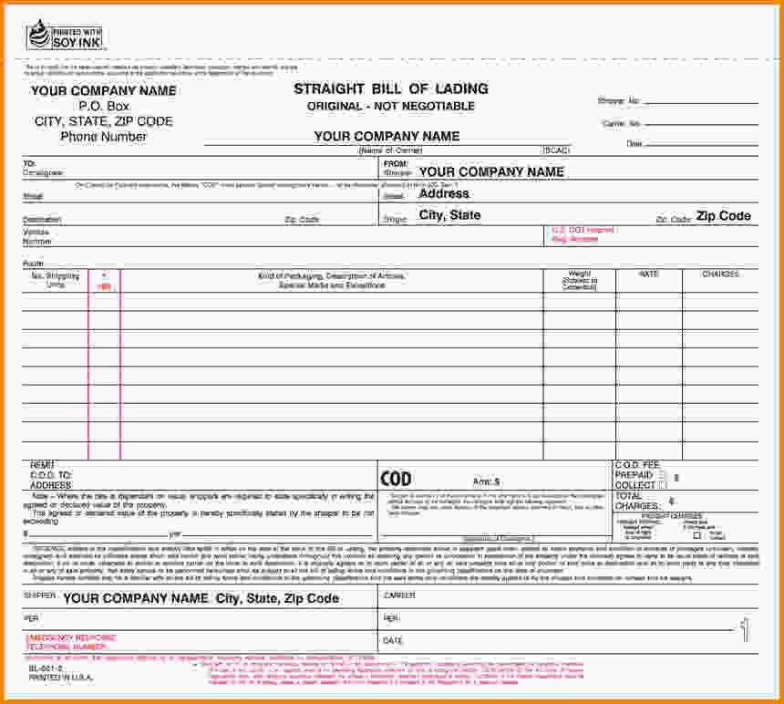 Straight Bill Of Lading.37062446.png - LetterHead Template Sample
