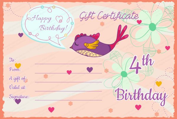 5+ Best Birthday Gift Certificate Formats for Your Customers ...