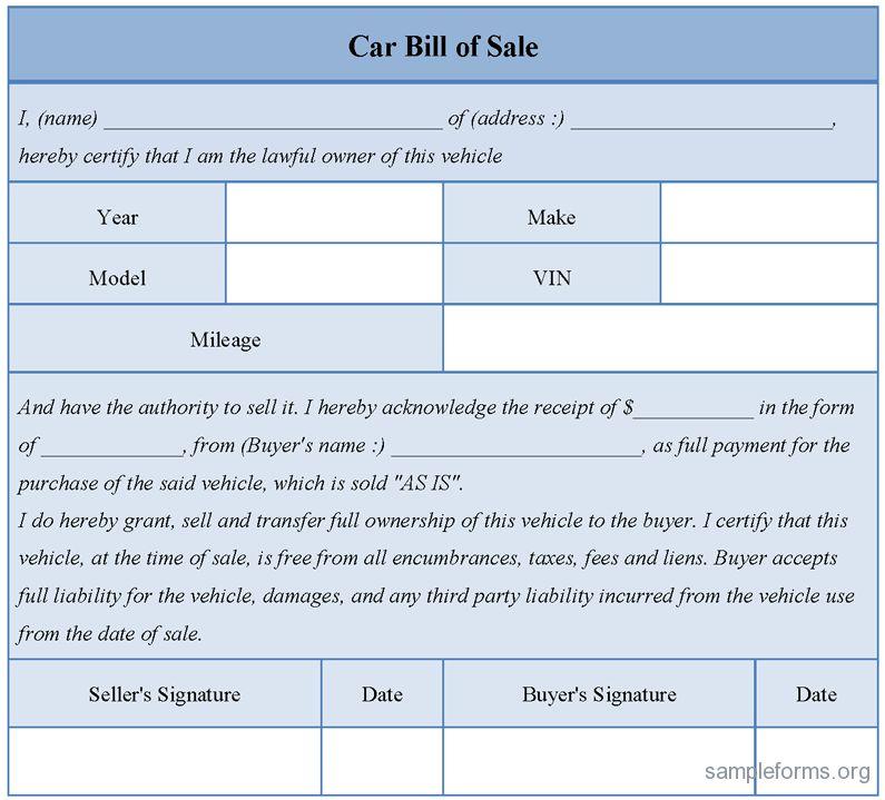 Download Car Sale Receipt Template Free | rabitah.net