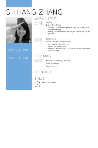Buchprüfer CV Beispiel - VisualCV Lebenslauf Muster Datenbank