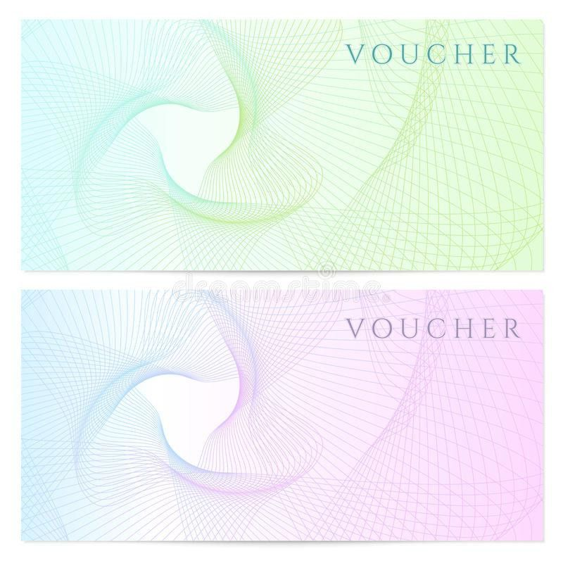 Gift Certificate, Voucher, Coupon Template. Color Royalty Free ...