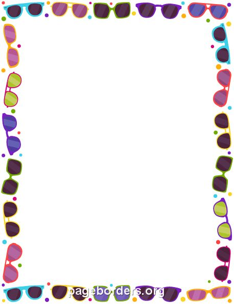 Printable glasses border. Use the border in Microsoft Word or ...