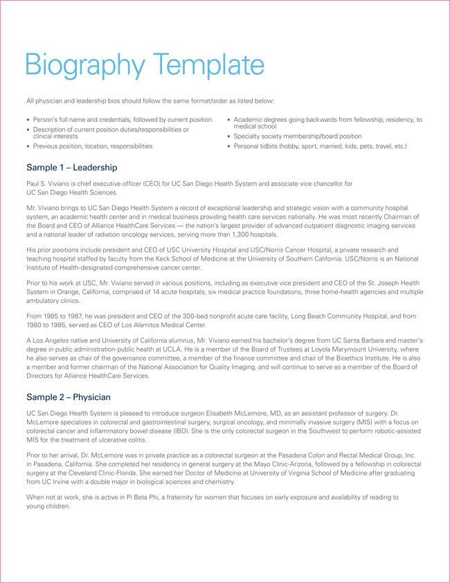 38+ Biography Templates with Images - Download in Word & PDF