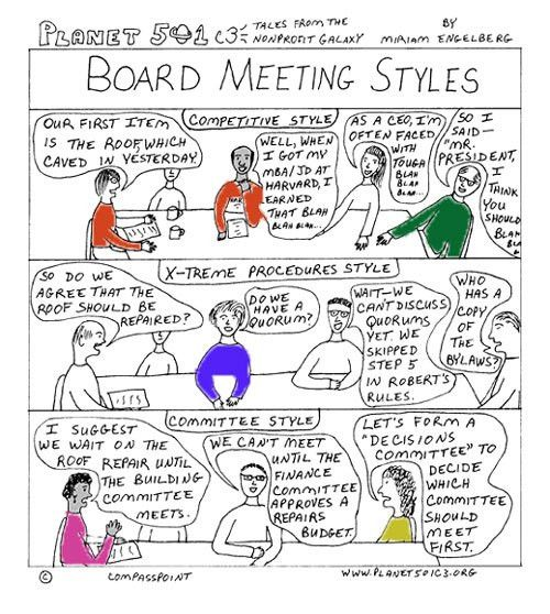 And Now for a Different Type of Board Agenda | Blue Avocado