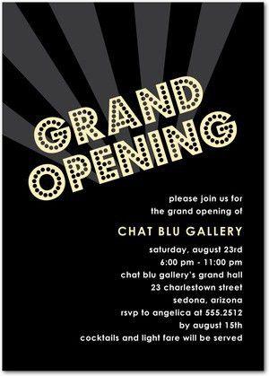 Grand Opening - Corporate Event Invitations in Black | Hello ...
