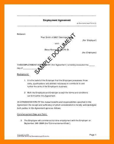 4+ simple contract examples | simple cv formate