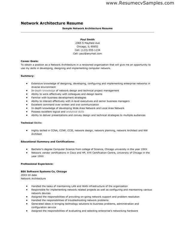 Professional Network Architecture Resume Template and Educational ...