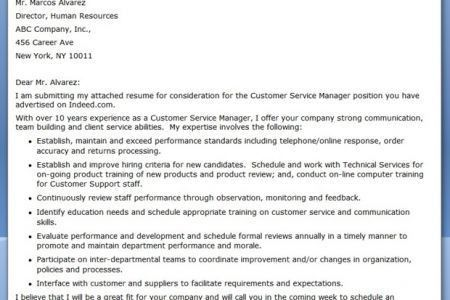 leading customer service cover letter examples resources the ...