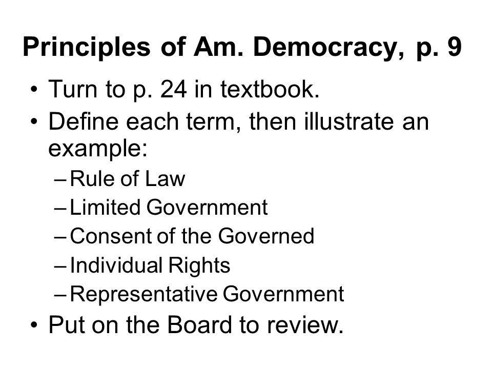 Principles & Influences of American Government Activities for 1.3 ...