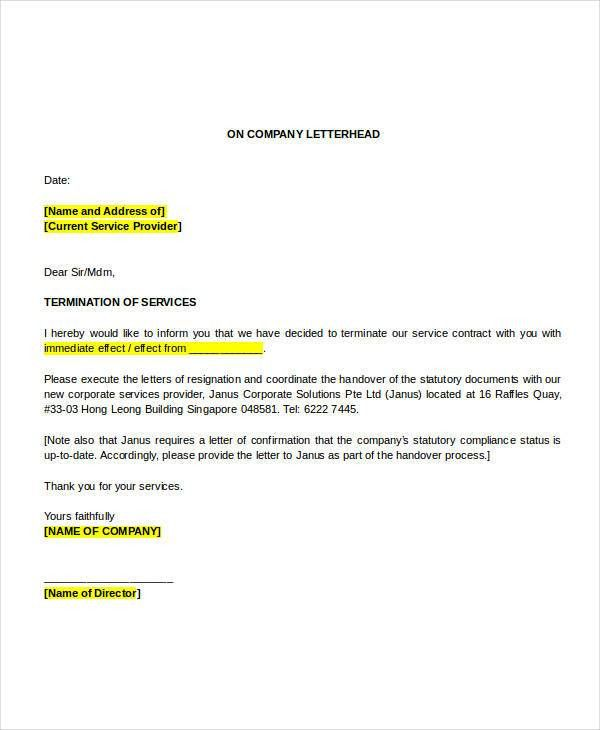 Simple Termination Letter Templates - 32+ Free Word, PDF Documents ...