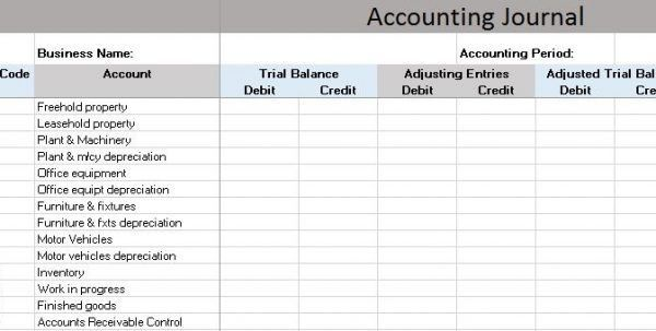 Accounting General Journal Template Accounting Journal Template ...