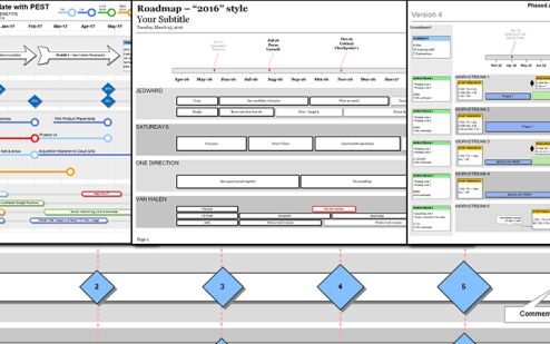 Visio Roadmap Templates - A spring clean!