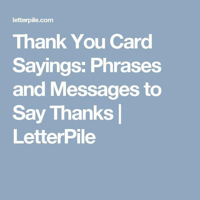 Best 25+ Thank you note wording ideas on Pinterest | Wedding thank ...