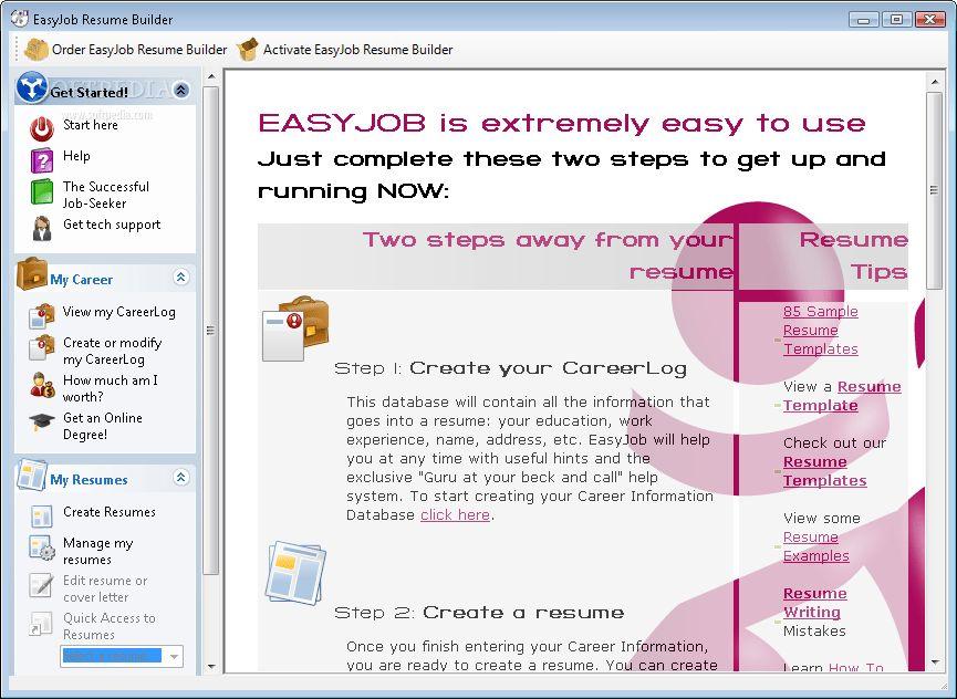 EasyJob Resume Builder Download