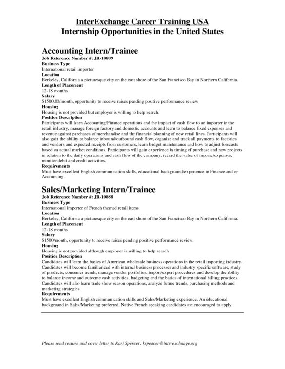 business internship cover letters