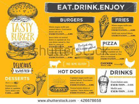 Restaurant Placemat Designs: Menu placemat food restaurant ...