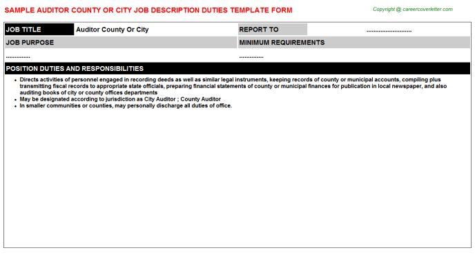 Restaurant Auditor Job Descriptions