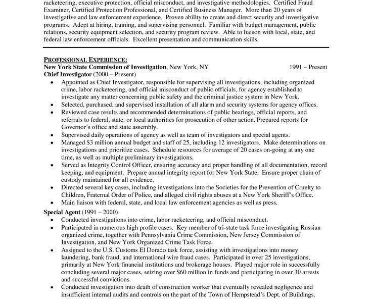 Sample Resume For Police Officer - Resume CV Cover Letter