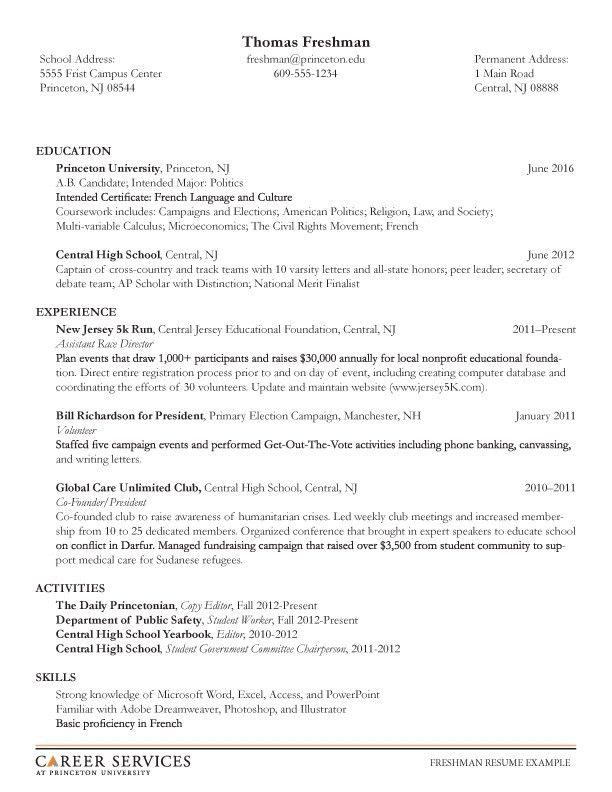Example Of Resume For Student. Example Of Resume For Graduate ...