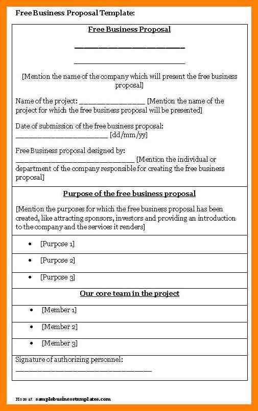 7+ formal project proposal template | day care receipts