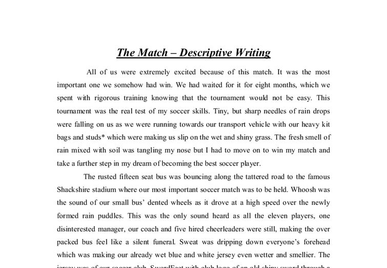 Download Writing A Descriptive Essay Examples ...