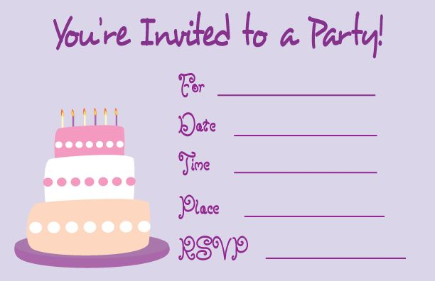 Simple Birthday Party Invitation Card Template Free 53 In Wedding ...