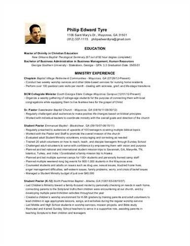 sample pastor resume 38 formatscsatco - Sample Pastoral Resume