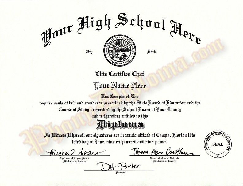 Fake High School Diploma and Transcripts, MidWest Design. Fake ...