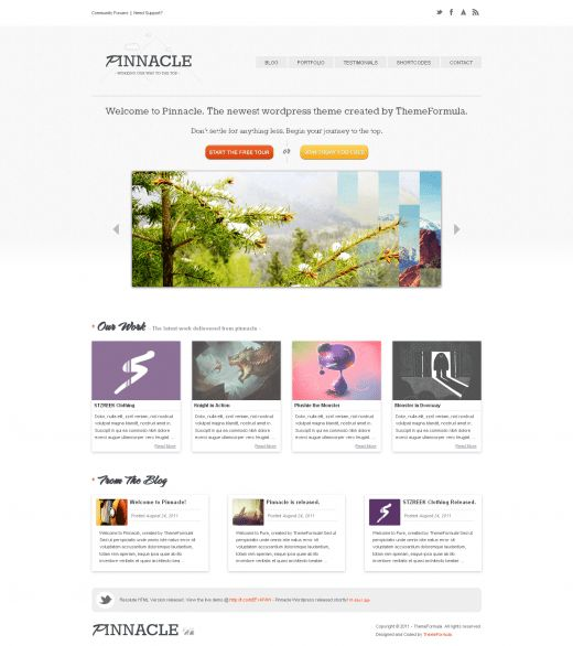 Pinnacle U2013 Modern Portfolio WordPress Template   TutorialChip  Portfolio Word Template