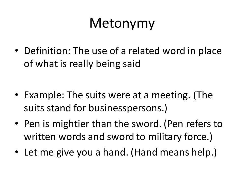 Metaphor Definition: The comparison of 2 things without using like ...