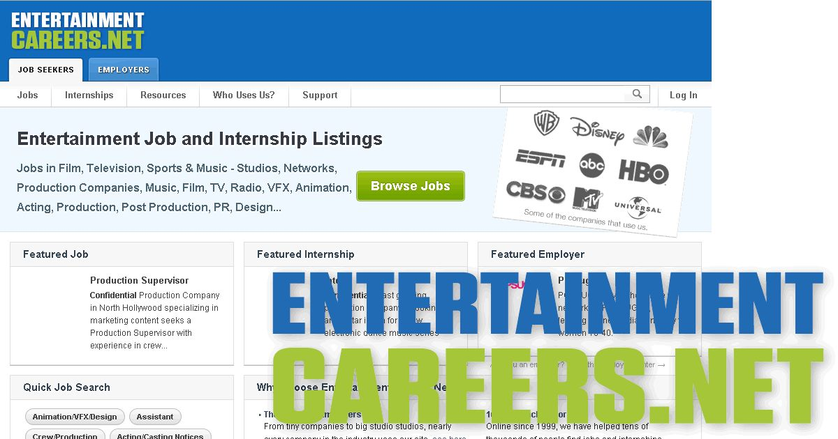 New Entertainment Jobs