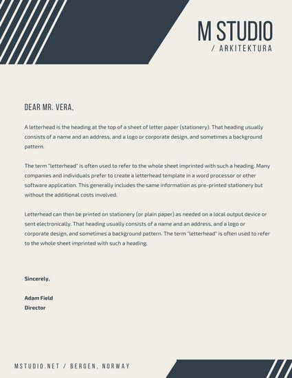 Business Letterhead Templates - Canva