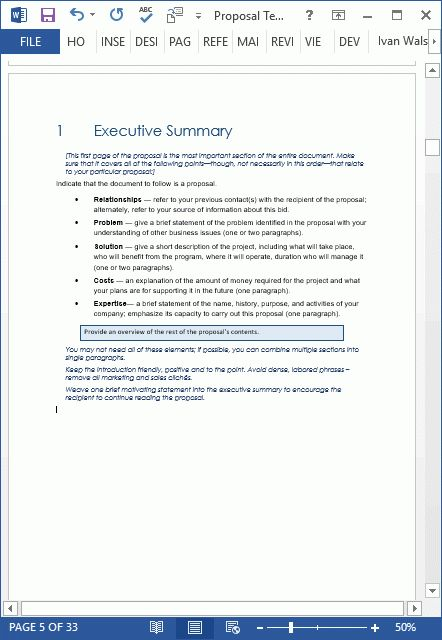 28+ [ Proposal Executive Summary Template ] | Gallery For Gt ...
