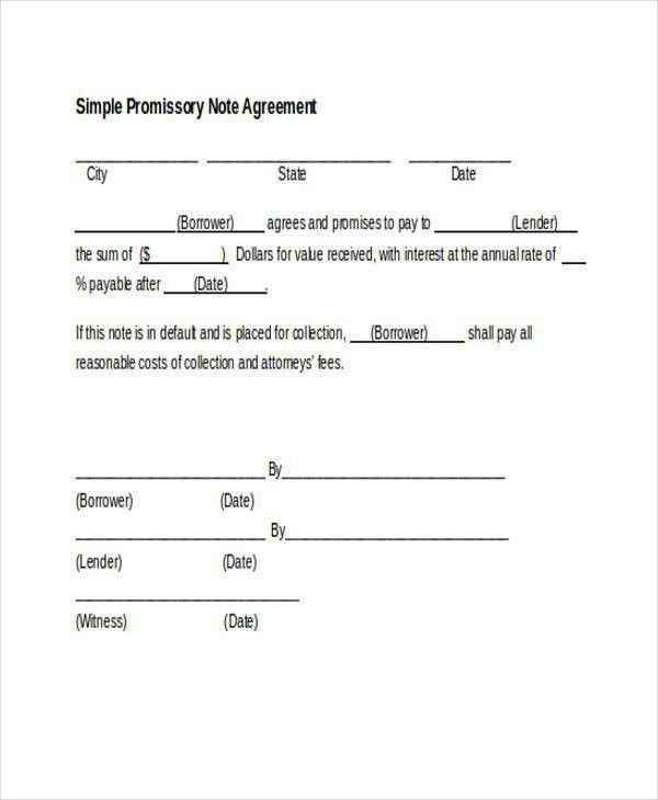 Promissory Note Word Document, blank promissory note u2013 8+ free ...