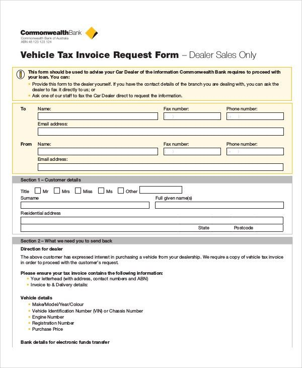 Sample Invoice Request Form - 9+ Examples in Word, PDF