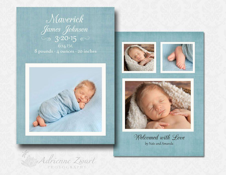 Free Birth Announcement Templates for Photoshop » Adrienne Zwart ...