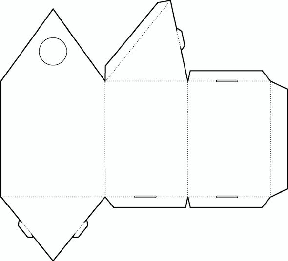 Triangle Box Template No.02 | Free Box Templates Store ...