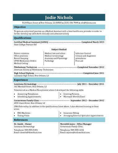 medical assistant resume sample | Automotive