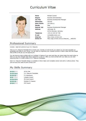 Resume Template Word - Download Free Resume Template for Microsoft ...