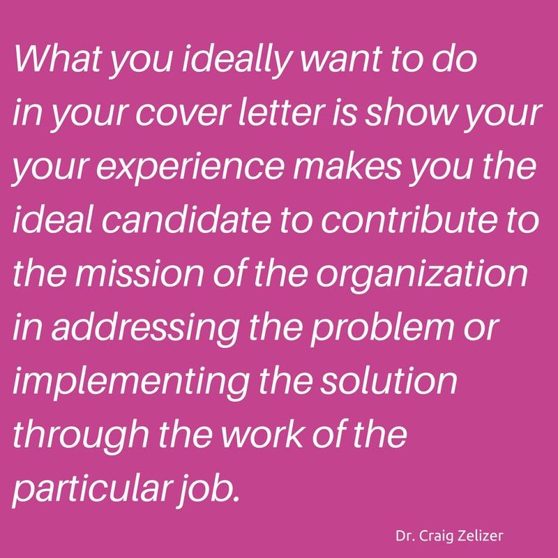 Cover Letters Done Perfect for Social Change Careers : PCDN
