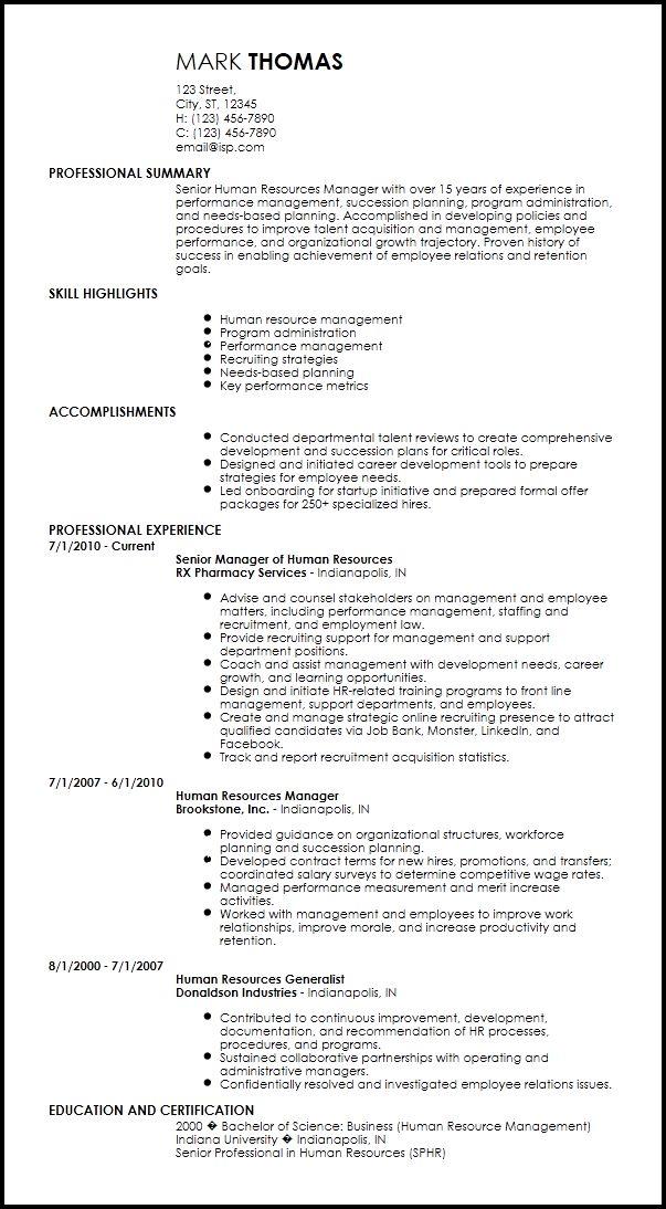 Free Creative HR Resume Templates | ResumeNow