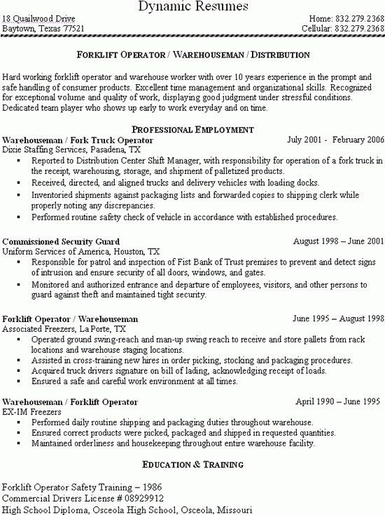 Download Forklift Resume | haadyaooverbayresort.com