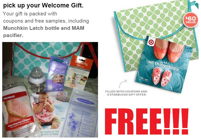 Free $60 Baby Registry Gift Pack at Target