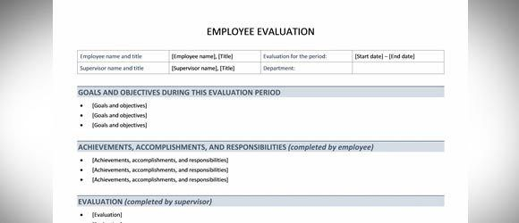 Employee Evaluation Template for Word
