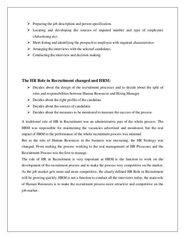 Hr Intern Job Description. Hr Resume Job Application Letter For Hr ...