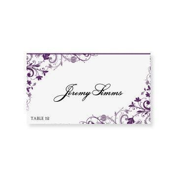 INSTANT DOWNLOAD - Wedding Place Card Template - Chic Bouquet ...